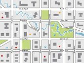 Vector Road Map Of A Town