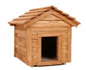 picture of dog-house  - small wooden dog - JPG