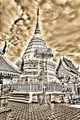 Vintage - Wat Phrathat Doi Suthep Temple In Chiang Mai, Thailand