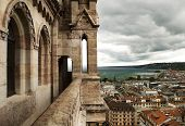 View Of Geneva From Cathedral Saint Pierre, Switzerland
