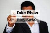 Male Professional Choosing To Take Risk Against Playing Safe