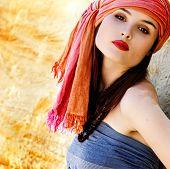 Fashion portrait of sultana