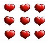 Nine Red Hearts
