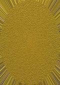 Golden Grainy Ellipse On Golden Rays