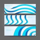 Abstract Header Blue Wave Vector Design