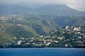 Homes On Martinique Coast Rising Into Clouds