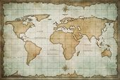 vintage old world map background