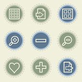Image viewer web icon set 1, vintage buttons