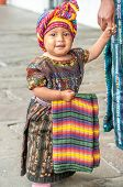 Little girl in the streets of Antigua