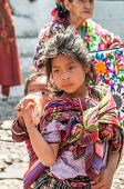 Girl in the streets of Chichicastenango