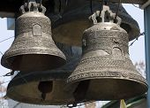 stock photo of yoke  - These are bells of Orthodox church - JPG