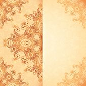 pic of mehndi  - Ornate vintage card template in Indian mehndi style - JPG