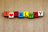 I Love Galway, Sign Series For Travel