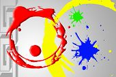 Circle Color Abstract Background