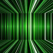 Abstract black and green warped stripes background