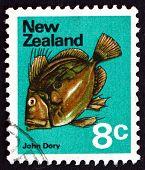Briefmarke Neuseeland 1970 Petersfisch, Zeus Faber, Fisch