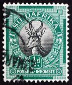 Postage Stamp Zuid-Afrika 1936 Springbok, Antelope