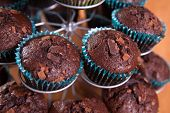 close-ups of chocolate muffins - sweet food