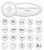 Travel And Tourism Icons - Vector Illustration poster