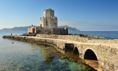 The Watchtower Of The Medieval Castle Of Methoni, Southern Greece poster
