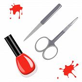 Manicure set and nail polish
