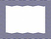 Navy Blue Chevron Frame