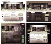 Website template Interior design concept