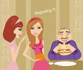 Girls Gossiping About Fat Guy