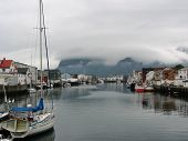 Henningsvaer Harbour In The Lofoten Islands