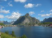 pic of lofoten  - Landscape in the Lofoten islands in Norway - JPG
