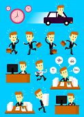 Businessman in a Hurry Busy Day