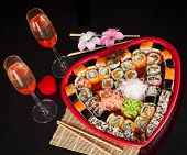 pic of sushi  - Traditional Japanese food Sushi - JPG