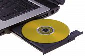 Compact disc from laptop
