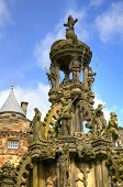 EDINBURGH - MAY 28: Statue in the Palace of Holyroodhouse, official residence of the Monarch of the