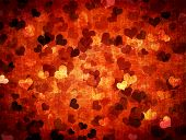 Grunge Valentines Background With Hearts