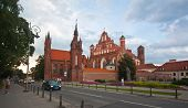 VILNIUS, LITHUANIA, AUGUST 10: St. Anna's Church in Vilnius, Lithuania. Summer time on August 10, 20