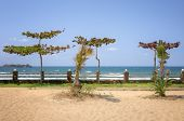 Panorama of Kande beach, Lake Malawi, Malawi, Africa
