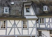 Grey And White Half-timbered House