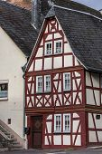 Little Old Half-timbered House In Traben-trarbach