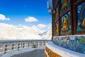 Shanti Stupa walls