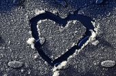 Heart Drawn In Frost