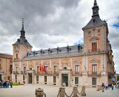 MADRID, SPAIN - MAY 28, 2014: Government buildings in old Madrid center