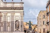 San Gaetano statue in Spaccanapoli, Naples - Italy
