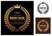 Golden Money back guarantee labels