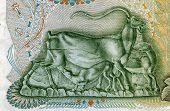 Greece - Circa 1960: Ibex Nursing His Little Baby On 500 Drachmai 1960 Banknote F