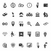Large set of money  banking and finance icons