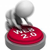Web 2.0 Pressed Means Website Platform And Type