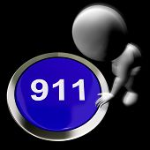 Nine One One Pressed Shows 911 Emergency Or Crisis