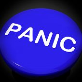 Panic Switch Shows Anxiety Panicking Distress