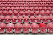Perspective Of Many Empty Stadium Seats